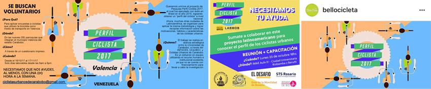 Divulgação e chamada para voluntários em Valencia - Venezuela; Rosaro - Argentina e Antioquia Colombia