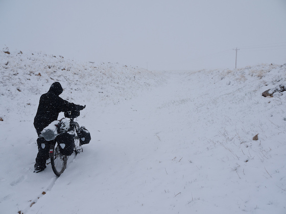 Bicicleta na neve - foto: Zane Selvans