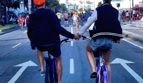 Amor pela bicicleta - via Instagram Transporte Ativo