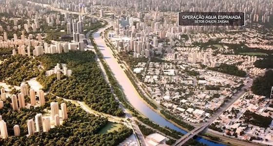 Área geral da operação urbana Água Espraiada - setor Chucri Zaidan