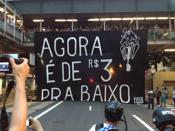 Cartaz  usado no 5° Ato contra a Tarifa - 27/01/15