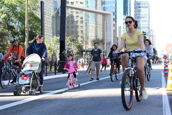 São Paulo, 28/06/2015 - Inauguração da ciclovia da Av. Paulista. Foto: André Tambucci / Fotos Públicas